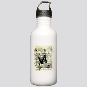 Pansies and music Stainless Water Bottle 1.0L