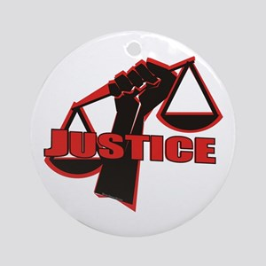 Justice Ornament (Round)