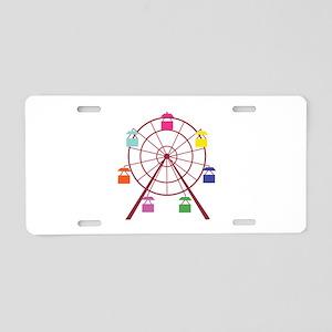 Ferris Wheel Aluminum License Plate