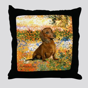 Garden (VG) & Dachshund Throw Pillow