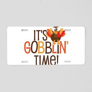 It's Gobblin' Time Aluminum License Plate