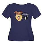 DGMDP Lo Women's Plus Size Scoop Neck Dark T-Shirt
