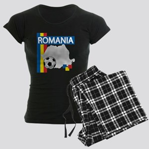romania-soccer01 Women's Dark Pajamas