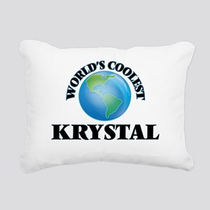 World's Coolest Krystal Rectangular Canvas Pillow