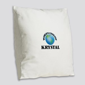 World's Coolest Krystal Burlap Throw Pillow