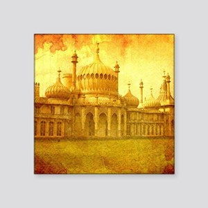 "The Royal Pavillion. Square Sticker 3"" x 3"""