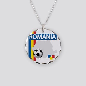 romania-soccer01 Necklace Circle Charm