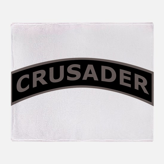 Funny Crusader Throw Blanket
