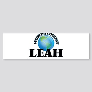 World's Coolest Leah Bumper Sticker