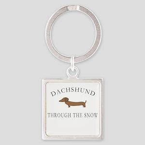 Dachshund Through The Snow Keychains