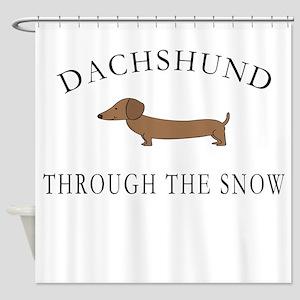 Dachshund Through The Snow Shower Curtain