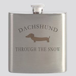 Dachshund Through The Snow Flask