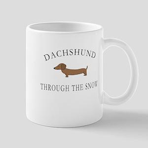 Dachshund Through The Snow Mugs