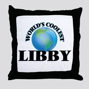 World's Coolest Libby Throw Pillow