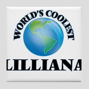 World's Coolest Lilliana Tile Coaster