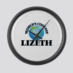 World's Coolest Lizeth Large Wall Clock