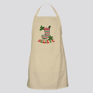 Christmas Stocking and Holly Believe Apron