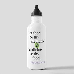 Let food be thy medicine Water Bottle