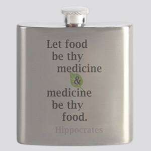 Let food be thy medicine Flask