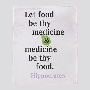 Let food be thy medicine Throw Blanket