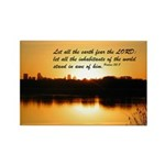 Psalm 33:8 Rectangle Magnet (100 pack)