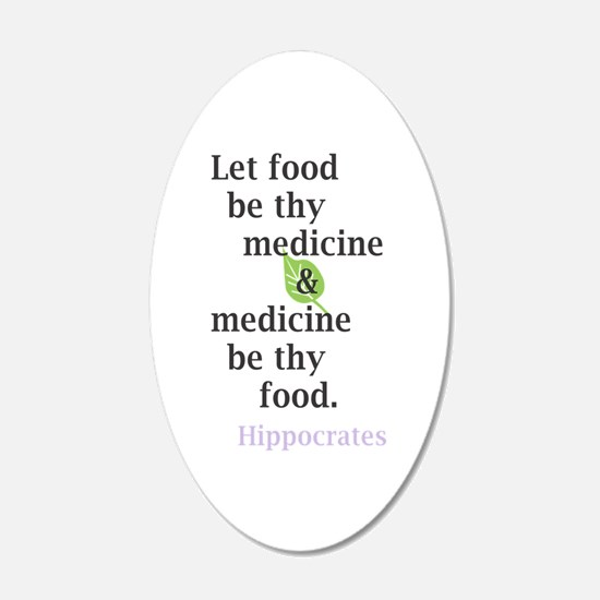 Let food be thy medicine Wall Decal