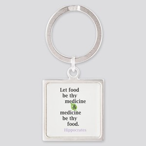 Let food be thy medicine Keychains