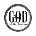 God Offers Deliverance Christian Wall Clock