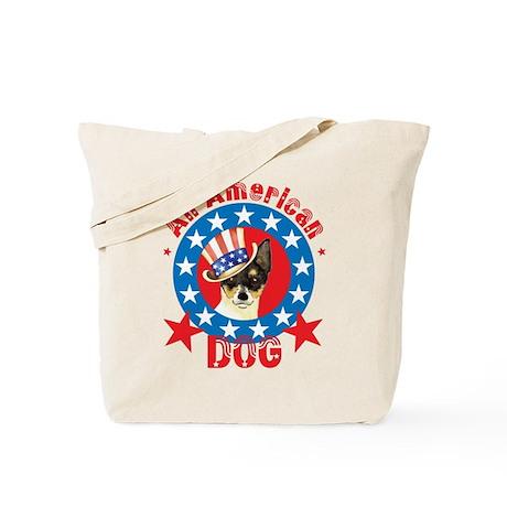 Patriotic Toy Fox Terrier Tote Bag
