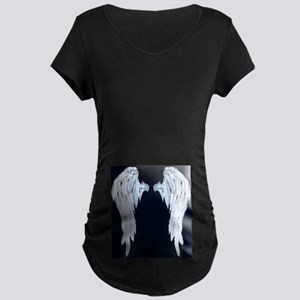 Angel Wings Blue Moon Maternity T-Shirt