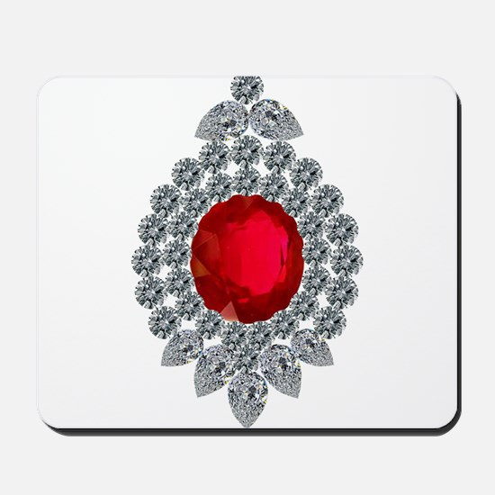 ruby brooch Mousepad