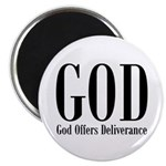 God Offers Deliverance Christian Magnet