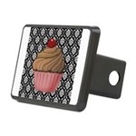 Pink Cupcake on Damask Hitch Cover