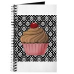 Pink Cupcake on Damask Journal