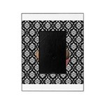 Pink Cupcake on Damask Picture Frame