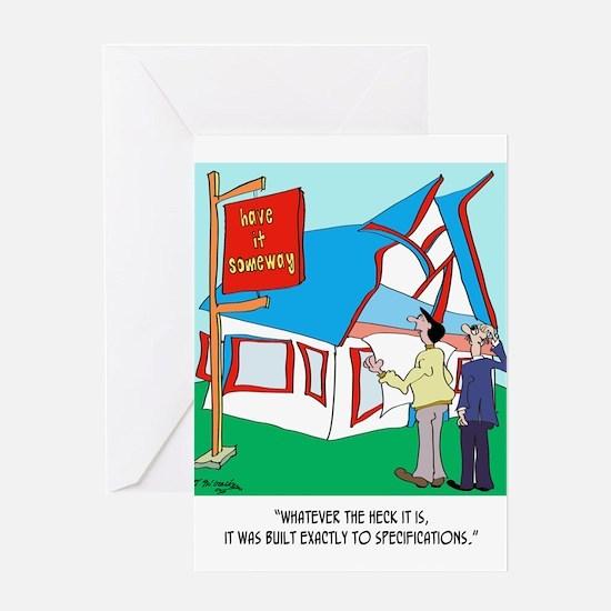 Building Cartoon 9233 Greeting Card