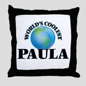 World's Coolest Paula Throw Pillow