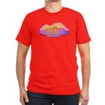 Awesome Clouds Men's Fitted T-Shirt (dark)