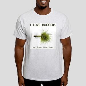 """I Love Buggers"" Grey T-Shirt"
