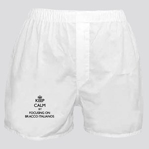 Keep calm by focusing on Bracco Itali Boxer Shorts