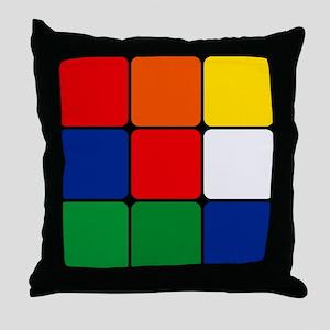 Color Blocks Cube Throw Pillow
