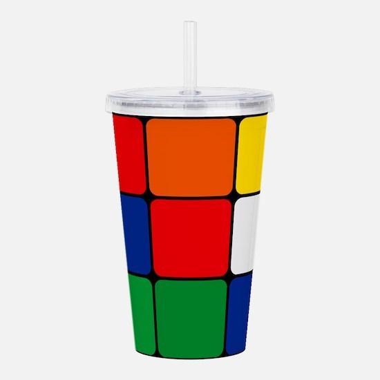 Color Blocks Cube Acrylic Double-wall Tumbler