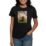 Spring / Dachshund Women's Dark T-Shirt