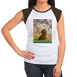 Spring / Dachshund Women's Cap Sleeve T-Shirt