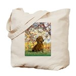Spring / Dachshund Tote Bag