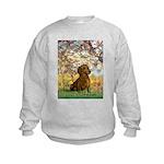 Spring / Dachshund Kids Sweatshirt