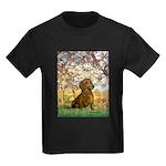 Spring / Dachshund Kids Dark T-Shirt