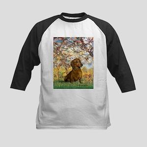 Spring / Dachshund Kids Baseball Jersey