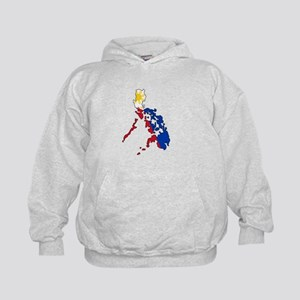 Philippine Flag and Map Decal Kids Hoodie