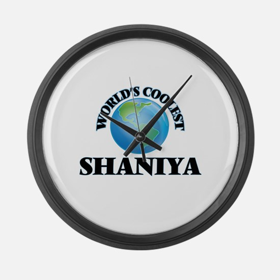 World's Coolest Shaniya Large Wall Clock